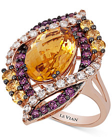 Le Vian Crazy Collection® Multi-Stone Ring (7-3/4 ct. t.w.) in 14k Rose Gold, Created for Macy's