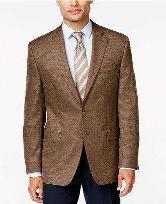 lauren ralph lauren big and tall brown houndstooth sport coat blazers sport coats men macy 39 s. Black Bedroom Furniture Sets. Home Design Ideas