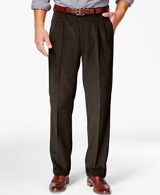 Lauren Ralph Lauren Corduroy Pleated Classic-Fit Dress Pants ...