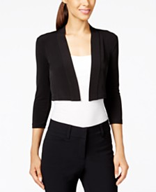 Calvin Klein Three-Quarter-Sleeve Bolero Cardigan