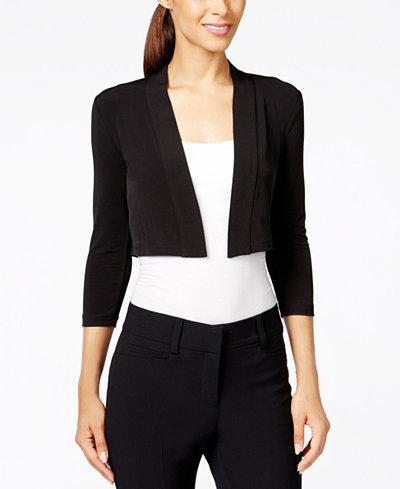 Calvin Klein Three-Quarter-Sleeve Bolero Cardigan