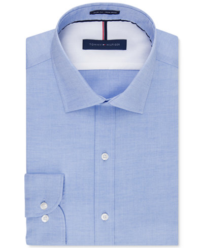 Tommy hilfiger men 39 s slim fit non iron soft wash solid for Men s no iron dress shirts