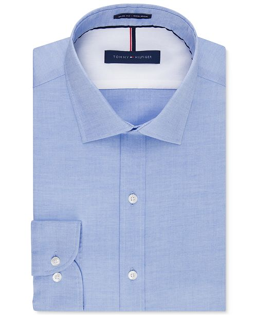 Men's Slim-Fit Non-Iron Soft Wash Solid Dress Shirt