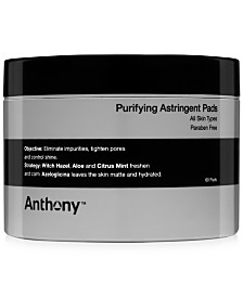 Anthony Purifying Astringent Pads, 60 pads