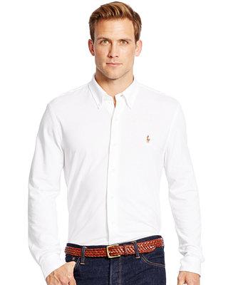 Polo Ralph Lauren Men S Knit Oxford Shirt Casual Button