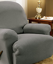 Sure Fit Simple Stretch Subway Tile Recliner Furniture Slipcover