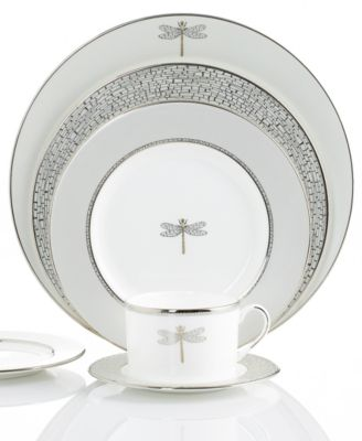 The whimsical pattern of dragonflies and ladybugs decorating June Lane dinnerware makes u201cdinner at eightu201d a magical experience.  sc 1 st  Macyu0027s & kate spade new york June Lane Collection - Fine China - Macyu0027s
