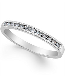 Diamond Band Ring (1/5 ct. t.w.) in 10K Rose, White or Yellow Gold