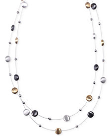 Nine West Tri-Tone Layer Necklace