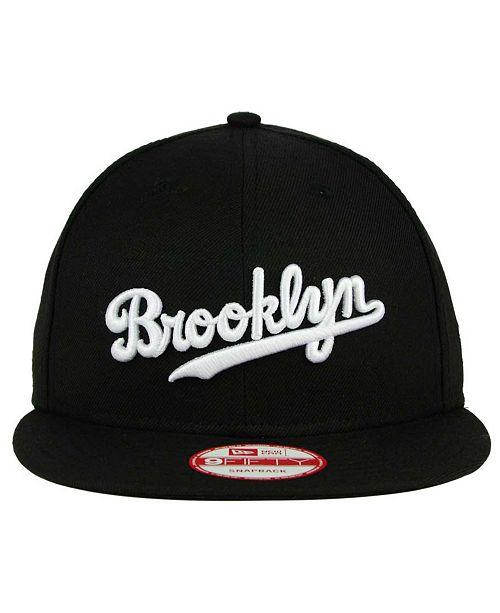 285b4fc8e7858 ... canada new era brooklyn dodgers b dub 9fifty snapback cap sports fan  shop by lids men