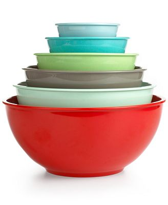 CLOSEOUT! Martha Stewart Collection Set of 6 Melamine Mixing Bowls