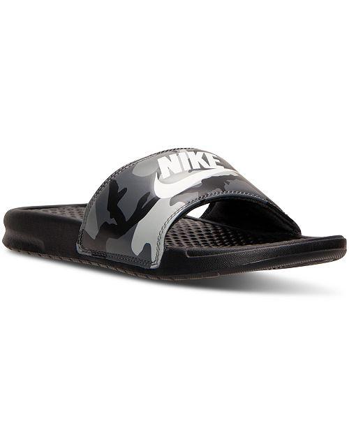 644561cf23fc1c Nike Men s Benassi JDI Print Slide Sandals from Finish Line ...