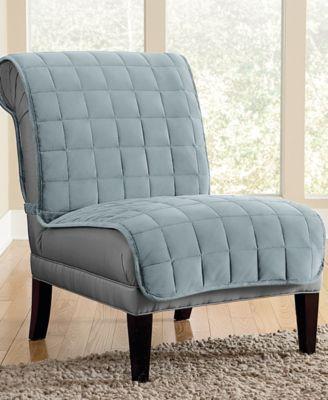 Velvet Deluxe Pet Armless Chair Slipcover with Sanitize Odor Release