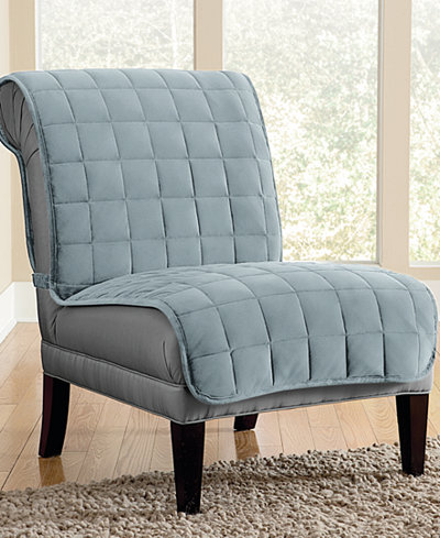 Sure Fit Velvet Deluxe Pet Armless Chair Slipcover With Sanitize Odor Release Slipcovers For