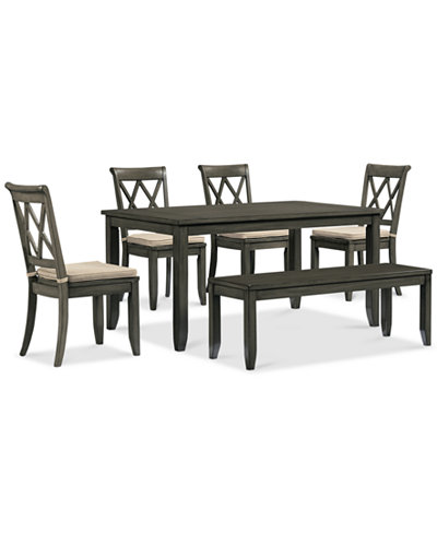 4 Chair Dining Room Sets - Russet 6 Piece Dining Set Dining Table ...