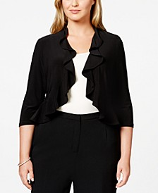 Plus Size Ruffled Bolero