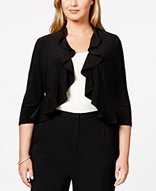 R & M Richards Plus Size Ruffled Bolero