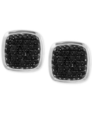 Effy Black Sapphire Cuff Links (1-9/10 ct. t.w.) in Sterling Silver