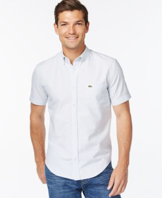 Lacoste Men's Button-Down Shirt - Casual Button-Down Shirts - Men ...