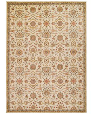 """Home Ancient Times Persian Treasures Ivory 3'9"""" x 5'9"""" Area Rug"""