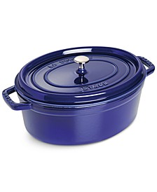 Enameled Cast Iron 7-Qt. Oval Cast Iron Cocotte
