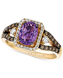 Le Vian Amethyst (1 ct. t.w.) and Diamond (1/2 ct. t.w.) Ring in 14k Gold