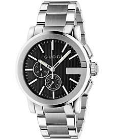 Men's Swiss Chronograph Stainless Steel Bracelet Watch 44mm