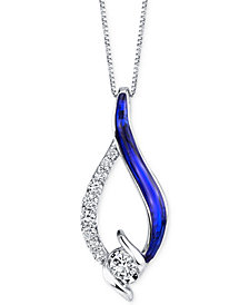 Sirena® Jeans Diamond Pendant Necklace (1/4 ct. t.w.) in 14k White Gold