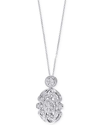 Bouquet by EFFY Diamond Pendant Necklace (1 ct. t.w.) in 14k White Gold