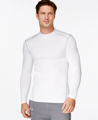 Under Armour Men's ColdGear® Mock Neck Long-Sleeve T-Shirt - T ...
