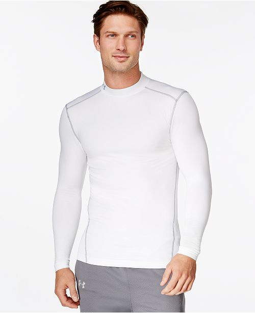Under Armour Men S Coldgear 174 Mock Neck Long Sleeve T Shirt