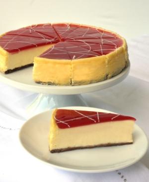 "Eli's Cheesecake,  8"" White Chocolate Raspberry Cheesecake"