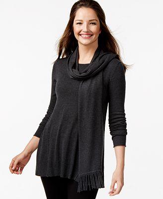 alfani fringe scarf swing sweater only at macy s