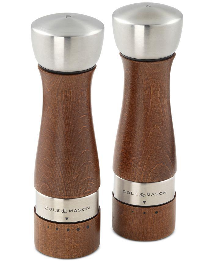 Cole & Mason - Oldbury Walnut-Stained Salt & Pepper Mill Set