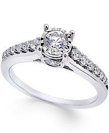 TruMiracle® Diamond (3/4 ct. t.w.) Engagement Ring in 14k White Gold
