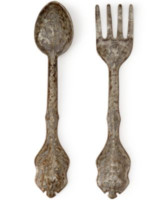 Heart Of Haiti Metal Fork And Spoon Wall Art