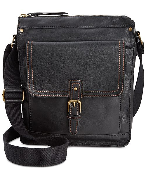 Patricia Nash Nash Men's Tuscan Leather North South Crossbody