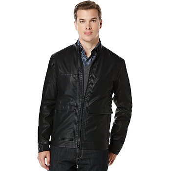 Perry Ellis Faux-Leather Mens Jacket
