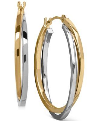 Macy S Heart Rope Chain Hoop Earrings In 14k Gold Earrings