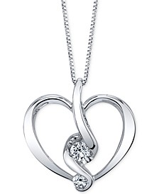 Diamond Heart Pendant Necklace (1/5 ct. t.w.) in 14k Gold or White Gold