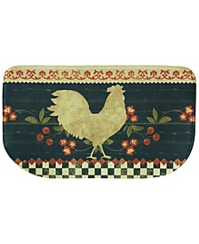 "Kitchen, Retro Rooster 18"" x 30"" Memory Foam Rug"
