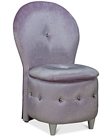 CLOSEOUT! Zoey Vanity Stool, Quick Ship