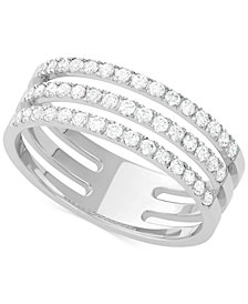 Diamond Channel Band (1/2 ct. t.w.) in 14k White Gold