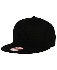 Kansas City Royals MLB Black on Black 9FIFTY Snapback Cap