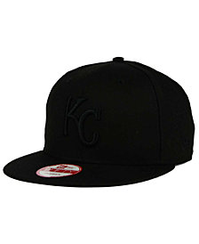 New Era Kansas City Royals MLB Black on Black 9FIFTY Snapback Cap