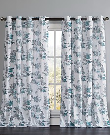 "Alice 54"" x 84"" Floral Curtain Set"