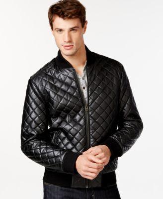 Levi's Diamond Quilted Bomber Jacket - Coats & Jackets - Men - Macy's