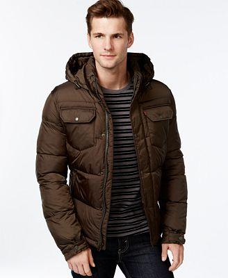 Levi S Hooded Puffer Jacket Coats Amp Jackets Men Macy S