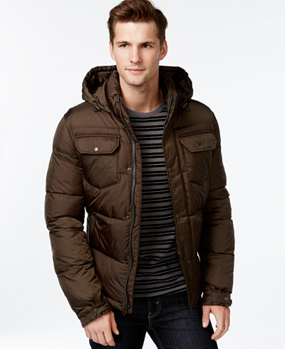 Levi's Hooded Puffer Jacket - Coats & Jackets - Men - Macy's