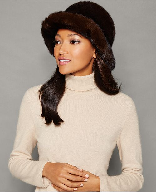 10c52a6f25053 The Fur Vault Mink Fur Hat   Reviews - The Fur Vault - Women - Macy s